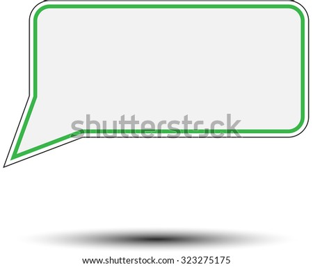 Sticker speech bubble. Design message, web label, tag paper, talk communication blank, vector art design abstract unusual fashion illustration