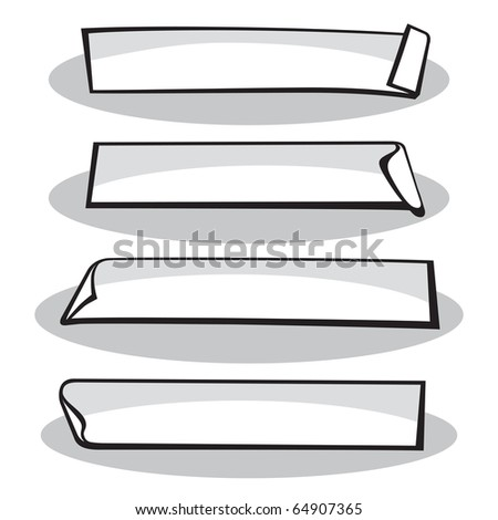 Stickers - stock vector