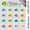 Stickers - Cloud computing Icons - stock photo