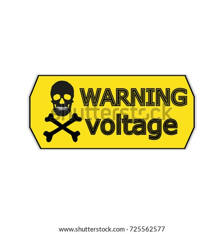 Stickers for electrical distribution board consumer electrical safety electricity current protection