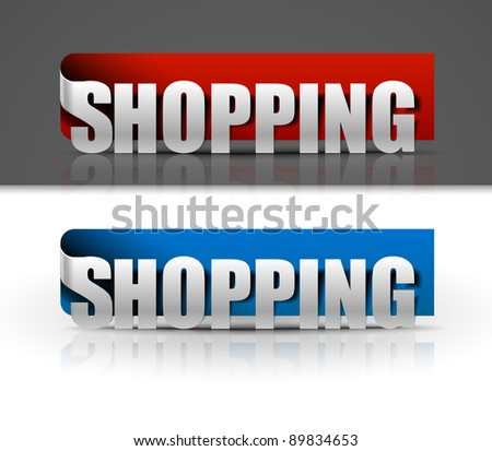 stickers for shopping design, vector illustration - stock vector