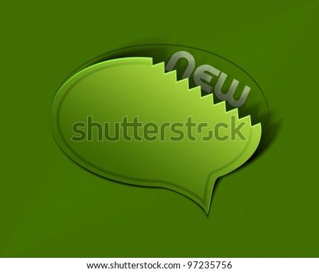 stickers messenger window icon vector illustration. - stock vector