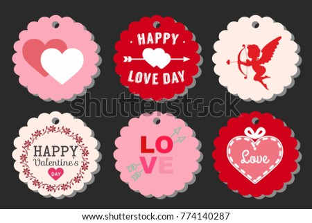 Stickers To The Day Of The Holy Valentine. Stickers Love.