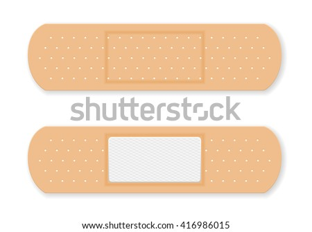 Sticking plaster  on a white background. - stock vector