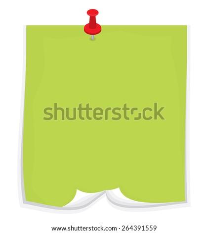 Sticky note - stock vector