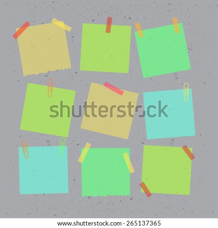 Sticky note flat isolated on white background. Vector illustration. - stock vector