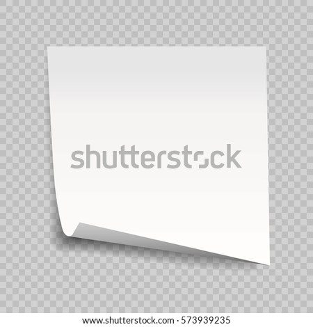Sticky Note Isolated On Transparent Background Stock Vector