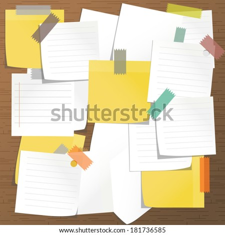 Sticky note paper  - stock vector