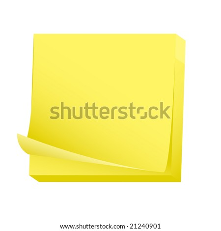 Sticky note paper pad - stock vector