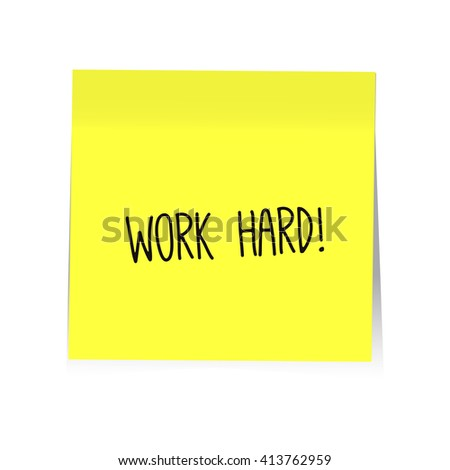 Sticky Note with Motivation text. Vector, EPS10 - stock vector