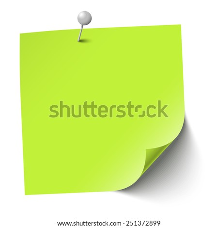 sticky paper with pin needle