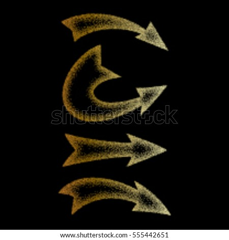 Stippling Arrow texture and backgrounds. Vector and Illustration.