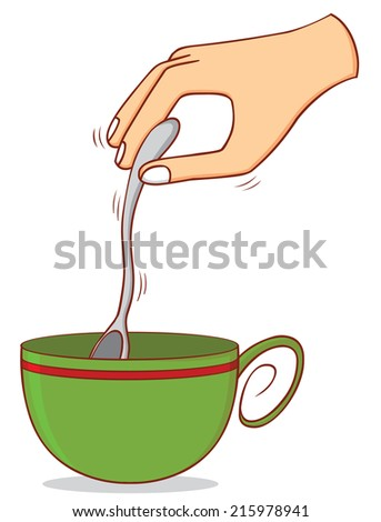 stirring coffee