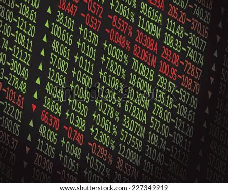 stock exchange background - stock vector