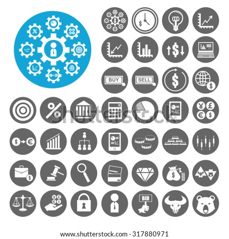Stock Exchange icons set. Illustration EPS10 - stock vector