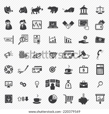 Stock financial icons set. illustration eps10 - stock vector