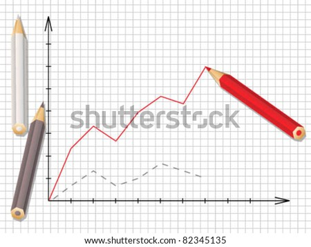 Stock graph of progress - stock vector