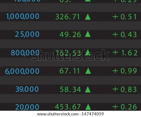 stock market - stock vector