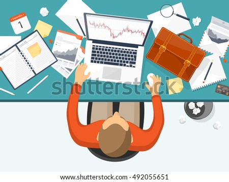 Stock Market Analysisfinanceflat Style Illustrationmoney