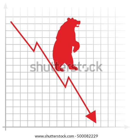 Stock market. bear market.