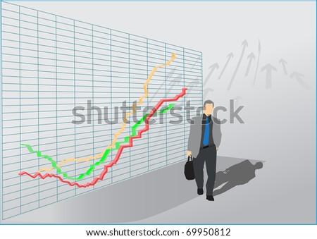 stock market.broker.vector - stock vector