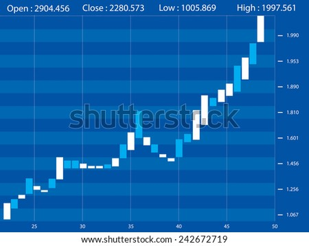 Stock market graphs - stock vector