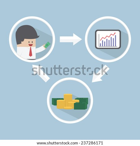 Stock market investment, financial concept, VECTOR, EPS10 - stock vector