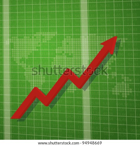 Stock Market Ticker Board - stock vector