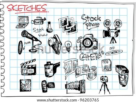 stock photo tools - stock vector