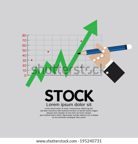 Stock Shares Rise Vector Illustration  - stock vector