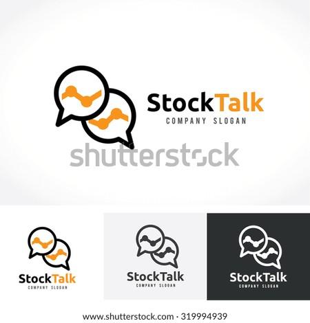 Stock Talk,marketing logo,chat,social marketing,vector logo template - stock vector