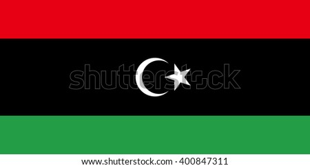 Stock Vector Flag of Libya - Proper Dimensions - stock vector
