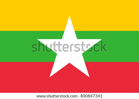Stock Vector Flag of Myanmar - Proper Dimensions
