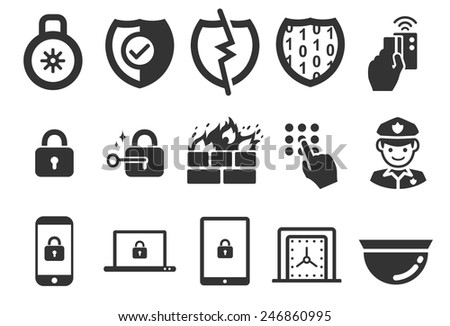Stock Vector Illustration: Security icons set 2 - stock vector