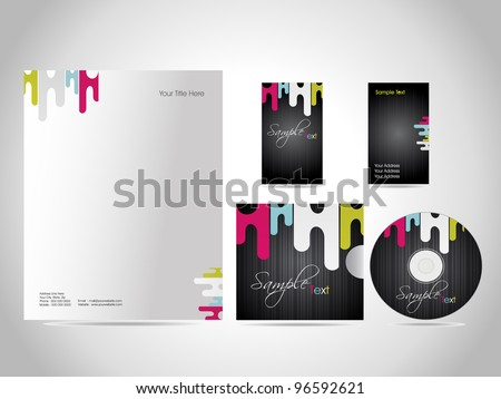Stock Vector Illustration, style identity kit for your business. - stock vector