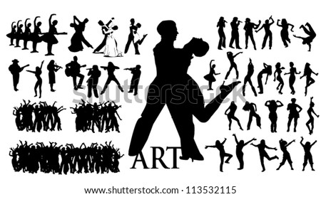 Stock Vector Illustration the art of music - stock vector