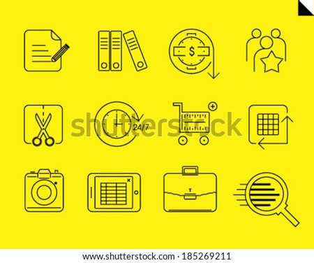Stock vector line icons - stock vector