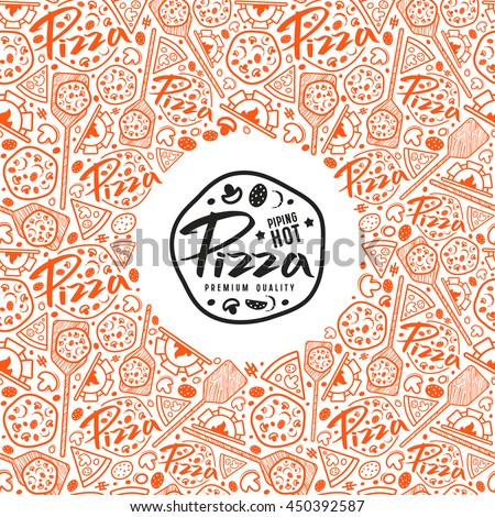 Stock Vector Pizza Cover Boxes Color Stock Vector 450392587 ...