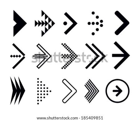 Stock vector set of navigation arrows - stock vector