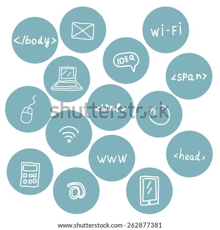 Stock vector set of web icons - stock vector