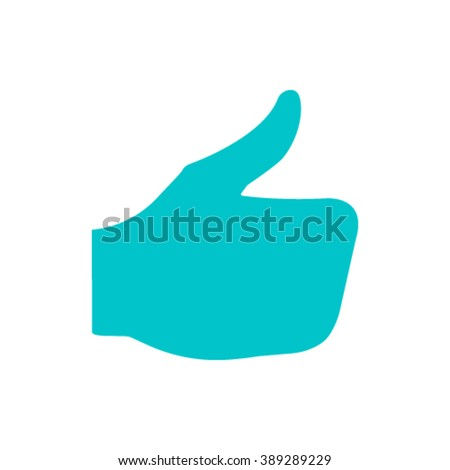 stock vector thumbs up icon , vector like icon,  social network vector