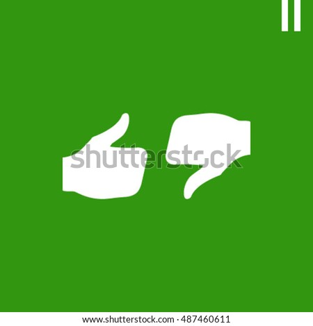 stock vector thumbs up icon vector social network vector icon for app web site etc