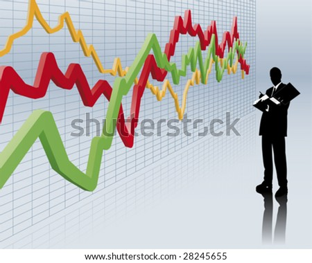 stockbroker - stock vector