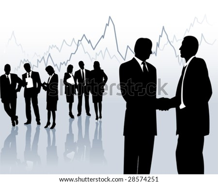 stockbroker - stock vector