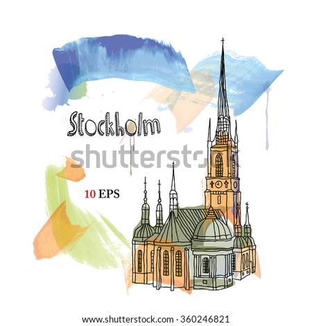 stockholm - stock vector