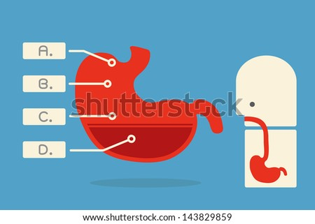 stomach infographics minimal design. vector - stock vector