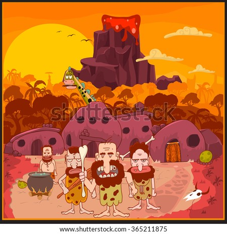 Stone Age vector Illustration/ Fully editable Eps 10 illustration - stock vector