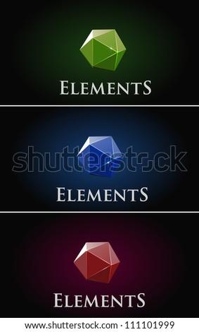 stone design elements - stock vector