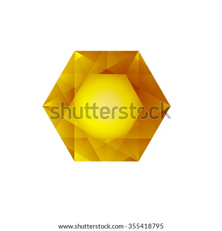 Stone Jewelry on a white background. - stock vector