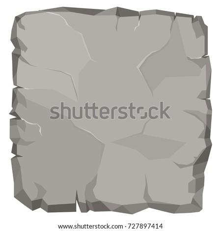 stone rock cartoon broken boulder template 727897414 shutterstock. Black Bedroom Furniture Sets. Home Design Ideas